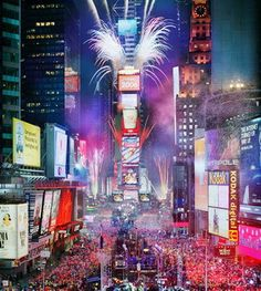 celebrate New Year's Eve at Times Square with the love of my life