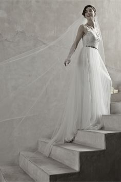 Floating Cathedral Veil in Shoes & Accessories Veils Cathedral & Chapel at BHLDN