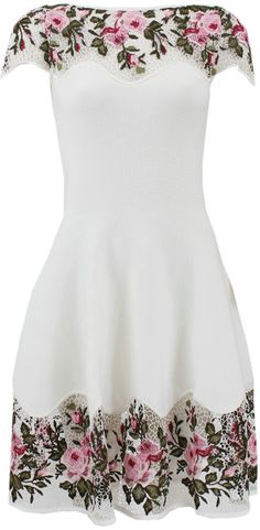 Love this: Floral Dress with Macrame Detail @Lyst