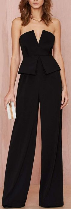 peplum jumpsuit. I don't normally like the rompers, but I like this one...
