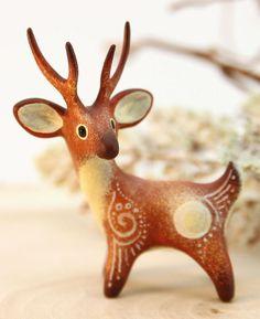 Polymer clay Animal Figurine Sculpture, Animal Sculpture, Fantasy velvet clay animals by Evgeny Hontor #clayfigurine #fantasyanimals #velvetclay