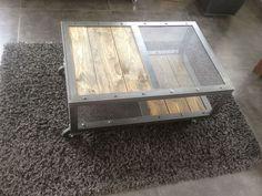 Tables basses mobilier industriel l 39 or du temps for L or du temps meuble industriel