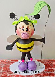 Frozen em e.v.a 3D e abelhinhas