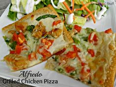 alfredo grilled chicken pizza