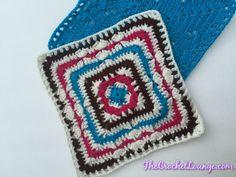 "Tamara 12"" Square, free crochet pattern on the Crochet Lounge"