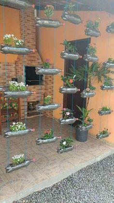 easy-care, lush garden ideas for winter - # Garden - . - easy-care, lush garden ideas for winter – # Garden – … … # - Garden Crafts, Garden Projects, Diy Projects, Diy Crafts, Jardin Luxuriant, Diy Plastic Bottle, Recycled Plastic Bottles, Bottle Garden, House Plants Decor