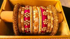 37 Beautiful Threaded Anklet Designs – Love Your Ankle Kundan Bangles, Silk Bangles, Bridal Bangles, Bridal Jewelry, Silk Thread Bangles Design, Thread Jewellery, Fabric Jewelry, Jewellery Designs, Anklet Designs