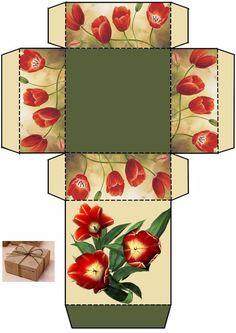 © КЛУБ РУКОДЕЛИЯ ✖✖✖ HANDMADE Diy Gift Box, Diy Box, Paper Box Template, Envelope Box, Diy And Crafts, Paper Crafts, Printable Box, Creative Gift Wrapping, Craft Box