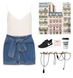 """""""The Day."""" by emilykatephilip on Polyvore featuring Raey, DKNY, NIKE and Marc by Marc Jacobs"""