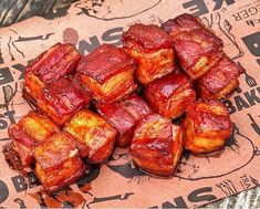 Honey Bacon BBQ Pork Belly Burnt Ends. doesn't get much better than that 🤤🤤 ------------------------------------------⠀ Bbq Bacon, Bbq Pork, Grilling Recipes, Pork Recipes, Smoker Recipes, Traeger Bbq, Traeger Grills, Pork Belly Burnt Ends, Fire Grill
