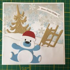 Childrens Christmas, First Christmas, All Things Christmas, Christmas Cards, Marianne Design Cards, Elizabeth Craft Designs, Cute Cards, Panda Bear, Craft Stores