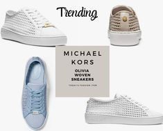 A woven design instills Michael Kors Olivia Sneakers with artisanal flair. Michael Kors finished them with supportive soles, so they're comfortable to wear. Cruise Outfits, Mom Outfits, Everyday Outfits, Summer Outfits, All White Sneakers, Slip On Sneakers, Michael Kors Sale, Michael Kors Sneakers, Balanced Life