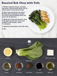 Roasted Bok Choy with Tofu. Simple and easy!