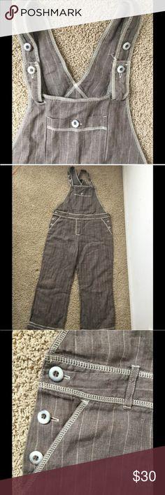 J Jill 100% Linen Overalls Adorable J Jill 100% linen jumper! Perfect for fall! J Jill Pants Jumpsuits & Rompers