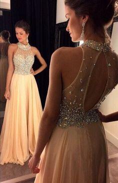 Bg714 Charming Prom Dress,Chiffon Prom Dress,Backless Prom Dress,Halter