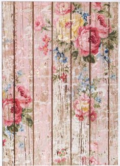 £1.9 GBP - Rice Paper For Decoupage Decopatch Scrapbook Craft Sheet Fence With Roses #ebay #Home & Garden
