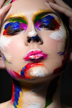 Primary Colors  Makeup: Sophie Moore  Photographer: Marina Dean-Francis  Retouching Mdf retouching  Model: Ljuba  #Beauty #Makeup #Creative
