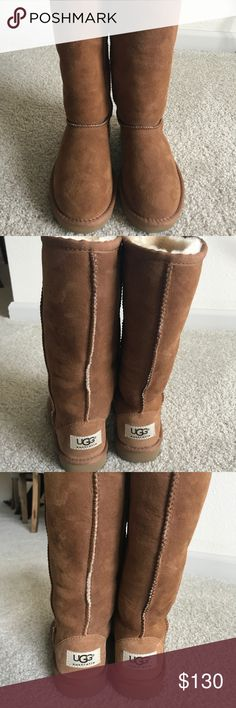 Classic Tall Ugg Boots (Girls) New Classic Tall Ugg Boots. Girls in Chestnut. Authentic without box. UGG Shoes Boots