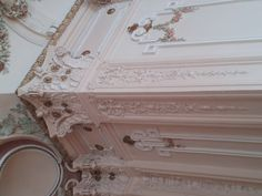 A beautiful corner pilaster in the Salon Room at the American Swedish Institute. Rococo Revival style room.
