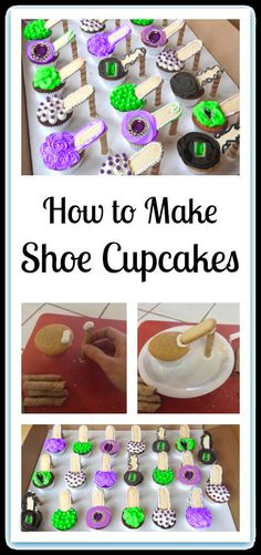 How to make Shoe Cupcakes.  SHOE CUPCAKES!!!  How fab are these?  You can decorate these with edible sugar jewels! A definite MUST HAVE at our Halloween Fashionista Fabulous Witches Theme Party & Decorating Ideas