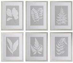 These fern prints are a simple way of creating a masterpiece wall. Put all 6 of these together, or pick your favorites and add them to your space. Neutral palette works with any existing furniture.