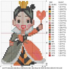 Queen of Hearts Cross Stitch Pattern (Alice in Wonderland)