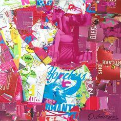Collage Artwork: Collage Art by Derek Gores Collage Artwork, Mixed Media Artwork, Collage Artists, Mixed Media Collage, Derek Gores, Mosaic Portrait, Composition Art, Magazine Collage, Hopeless Romantic