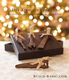 Add an authentic DIY twist to your décor, or gift the DIY'er on your holiday list this year with these handmade Tool Ornaments. Click through for the wood crafting tutorial.