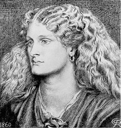 Portrait drawing of a young woman