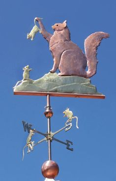 Cat Weathervane Maine Coon