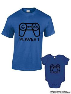 #Baby, #Father, #Gamer, #Grow, #Matching, #Or, #Player, #Playstation, #Ps4, #Sony, #TShirts