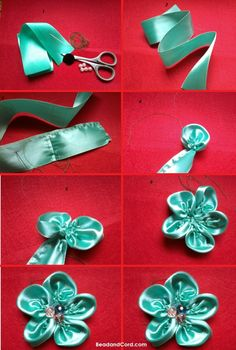 Make this easy flower using ribbon. Here is a step by step tutorial.