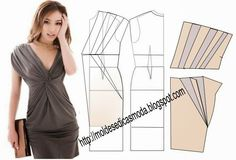 Fashion Templates for Measure: TRANSFORMATION OF DRESSES _110. Once you have done your basic template dress is easy to make any of these beautiful and elegant models.