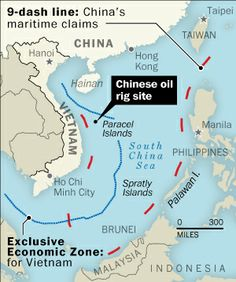 (Laris Karklis / The Washington Post)  -  The $1 billion Chinese oil rig that has Vietnam in flames