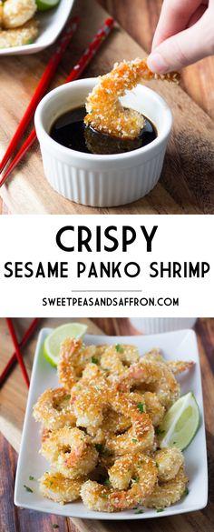 Crispy Sesame Panko Shrimp