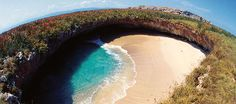 A secret hidden beach in Mexico