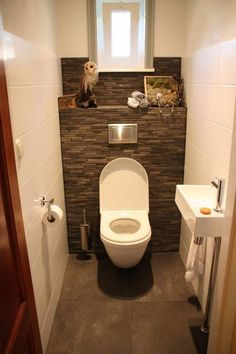 Toilet Room: Country Bathroom by Janny Doornbos Architectural Design . - WC Room: Country Bathroom by Janny Doornbos Architectural Design … - Small Toilet Room, Guest Toilet, Downstairs Toilet, Toilet Closet, Contemporary Living Room Furniture, Modern Furniture, Rustic Furniture, Outdoor Furniture, Modern White Bathroom