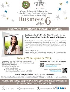 Business After Six & Conferencia #sondeaquipr #businessafter6 #condadoplazahilton #condado #sanjuan