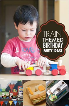 Train themed Birthday Party Ideas - Perfect for any kiddo that loves to hear a train whistle blow!