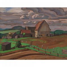 Buy online, view images and see past prices for ALEXANDER YOUNG JACKSON 1882 - Invaluable is the world's largest marketplace for art, antiques, and collectibles. Group Of Seven Art, Group Of Seven Paintings, Emily Carr, Landscape Drawings, Landscape Paintings, Landscapes, Canadian Painters, Canadian Artists, North Country