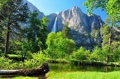 山の滝 カスケード 自然 高解像度で壁紙