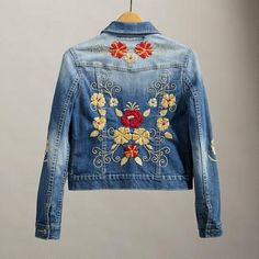 denim jacket jaqueta jeans bordado