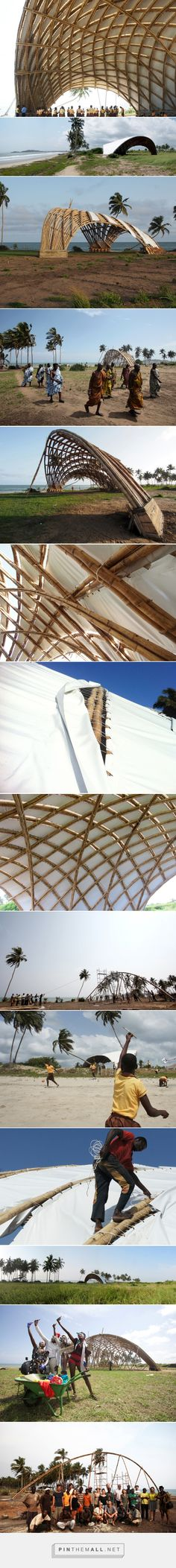 haduwa arts + culture institute in ghana protected by dynamic bamboo canopy - created via https://pinthemall.net