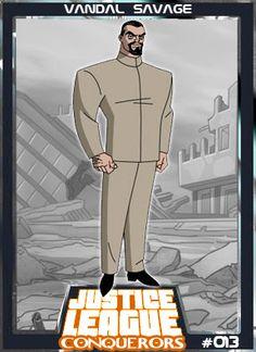 Vandal Savage é um personagem de histórias em quadrinhos, e um supervilão do Universo da DC Comics. A primeira aparição de Savage foi em Green Lantern (Vol. 1) #10 em 1943, e foi criado por Alfred Bester e Martin Nodell. Justice League Villain, Justice League Animated, Gotham City, Supergirl, Vandal Savage, Anti Monitor, Absorbing Man, Fight For Justice, Blood Brothers