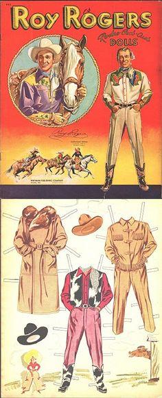Vintage Roy Rogers paper dolls.                                                                                                                                                      More