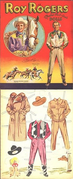 Vintage Roy Rogers paper dolls.                                                                                                                                                      More
