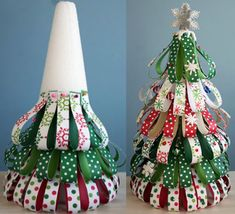 New Christmas Tree Decorations Paper Ornament Tutorial Ideas Types Of Christmas Trees, Diy Christmas Tree, Christmas Projects, All Things Christmas, Christmas Holidays, Christmas Ornaments, Xmas Tree, 242, Ornament Tutorial