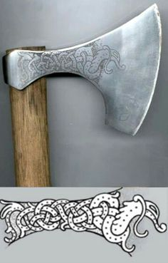 The Viking axe - An effective weapon in Viking age Viking Axe, Viking Warrior, Vikings, Throwing Axe, Beil, Battle Axe, Medieval Weapons, Arm Armor, Fantasy Weapons