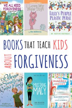 This is a list of fiction books that teach forgiveness to children. The list includes picture books as well as middle-grade books for older kids. Toddler Books, Childrens Books, Books For Kids, Kevin Henkes Books, Kids Reading, Reading Books, Reading Lists, Reading Games, Reading Resources