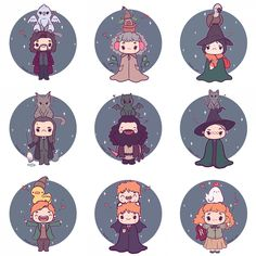 """7,125 curtidas, 108 comentários - Naomi Lord (@naomi_lord) no Instagram: """"So many chibis! ✨ I've now added all of these Harry Potter chibis to my etsy! (Link in bio) I'm…"""""""